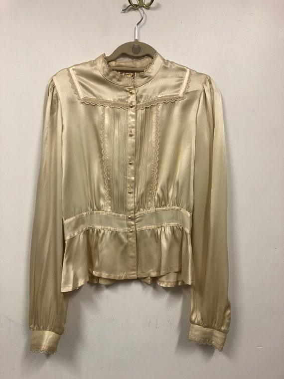 Vintage Gunne Sax Blouse // 70s Lace Blouse // Jes