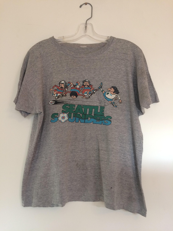 Vintage Seattle Sounders Tshirt 70s 80s Sounders Shirt Original Seattle Pro Soccer Team Soccer Fan Gift Seattle Pride Nasl Unisex Tshirt