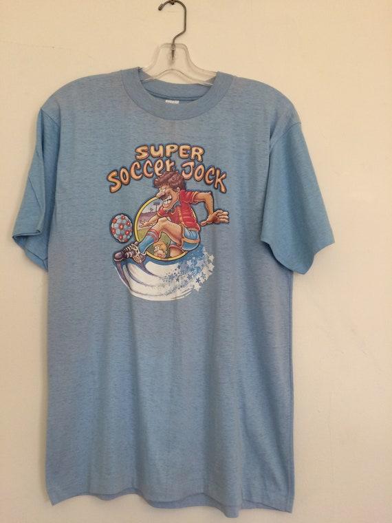 Vintage Soccer Tshirt // 70s Soccer Tshirt // 1970