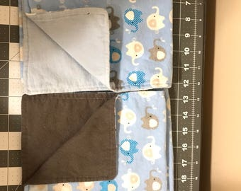 Blue Elephant Burp Cloths