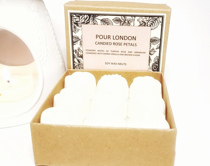 Candied Rose Petals Soy Wax Melts x 9