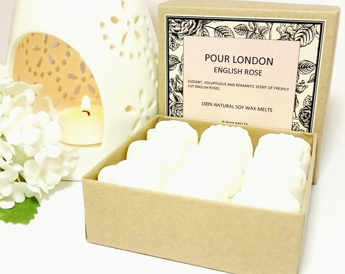English Rose Scented Soy Wax Melts x 9