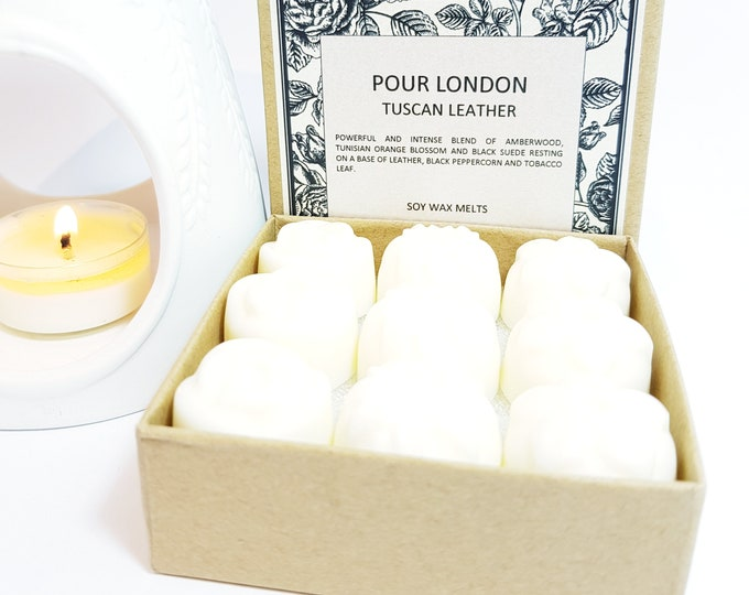 Tuscan Leather Soy Wax Melts x  9