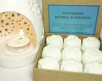 Bluebell & Hyacinth Scented Soy Wax Melts x 9