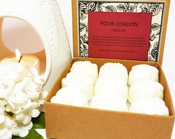 Fireside Scented Soy Wax Melts x 9