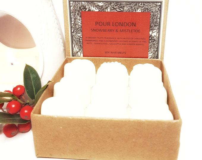 Snowberry & Mistletoe Soy Wax Melts x9