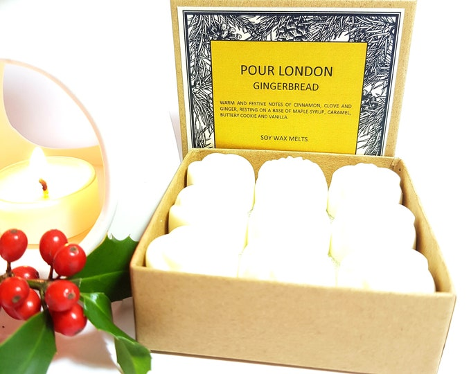 Gingerbread Scented Soy Wax Melts x 9
