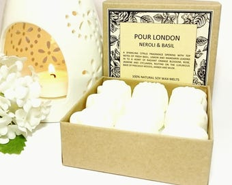 Neroli & Basil Scented Soy Wax Melts x 9