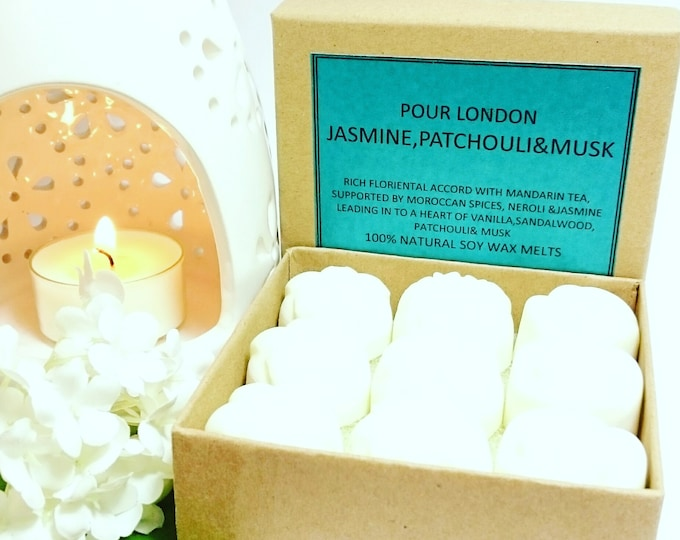 Jasmine, Patchouli & Musk Scented Soy Wax Melts x 9