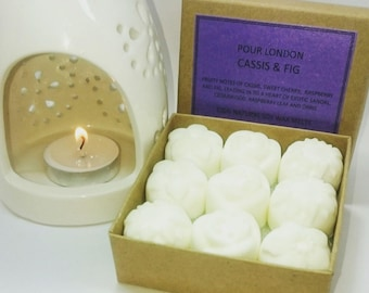 Cassis and Fig Scented Soy Wax Melts x 9