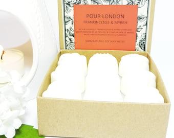 Frankincense & Myrrh Scented Soy Wax Melts x 9