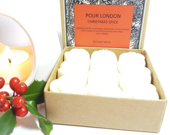 Christmas Spice Scented Soy Wax Melts x 9