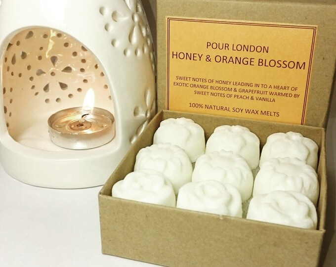 Honey & Orange Blossom Scented Soy Wax Melts x 9