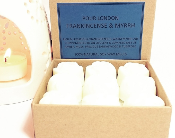 Frankincense & Myrrh Scented Soy Wax Melts x 9