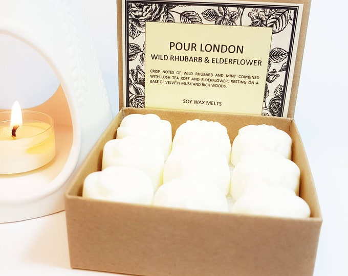 Wild Rhubarb & Elderflower Soy Wax Melts x 9