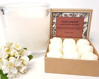 Black Plum & Rhubarb Scented Soy Wax Melts x 9