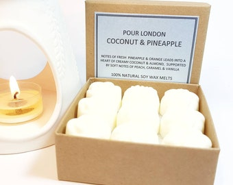 Coconut & Pineapple Scented Soy Wax Melts x 9