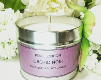 Orchid Noir Eco soy wax scented candle
