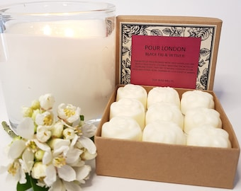 Black Fig & Vetiver Scented Soy Wax Melts x 9