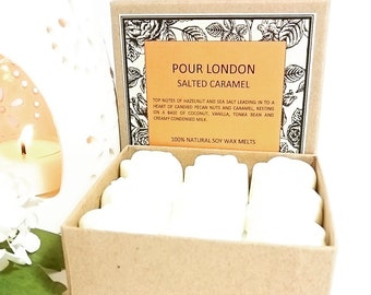 Salted Caramel Scented Soy Wax Melts x 9