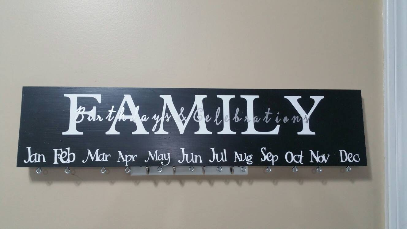 family birthday wood sign celebration sign wood birthday sign
