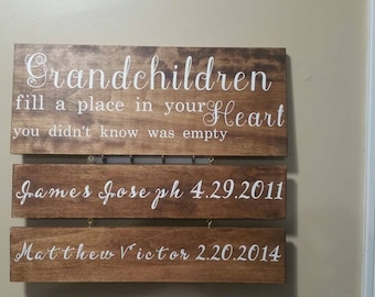 Additional name plates for grandchildren sign, extra name boards