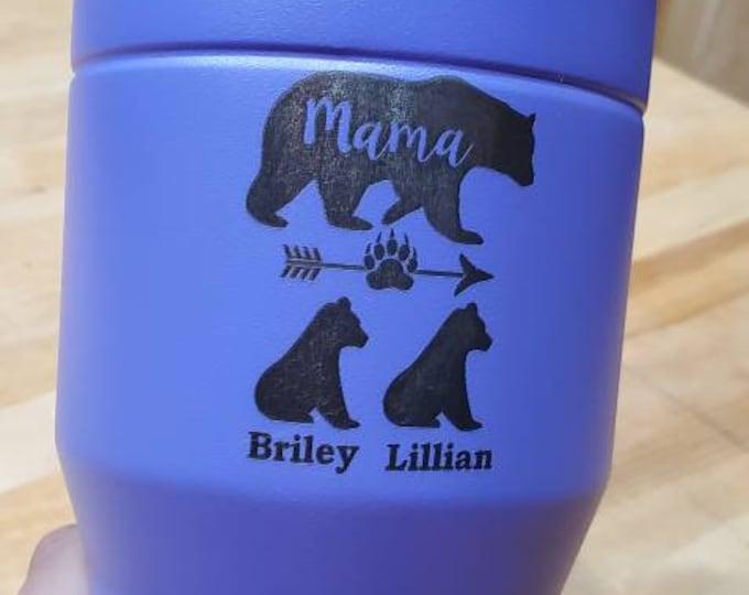 Mama bear and cubs tumbler, nana bear and cubs tumbler, custom tumbler, grandma tumbler, bear tumbler