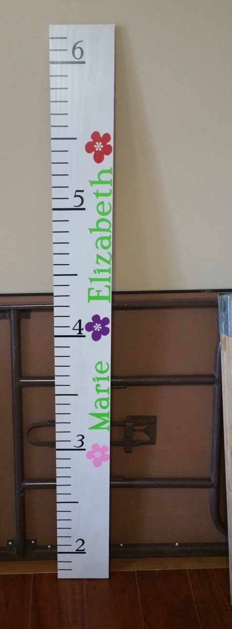Personalized Wooden Growth Chart Growth Ruler Kids Growth Chart
