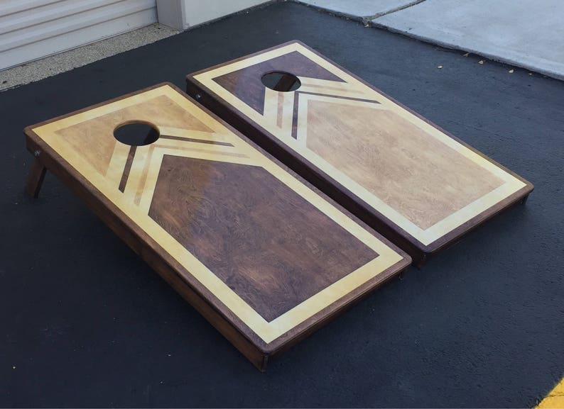 Custom Stained Cornhole Boards