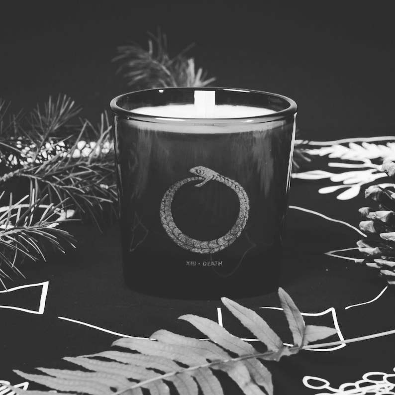 Death Card Candle image 0