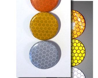 Reflective Hi-Intensity Pin Buttons