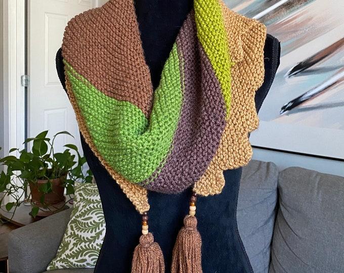 FREE Shipping Handmade Oversized Boho Bohemian Crochet Shawl Wrap Large Scarf Unique Designer Free Shipping Gypsy Triangle Baktus Asymmetric