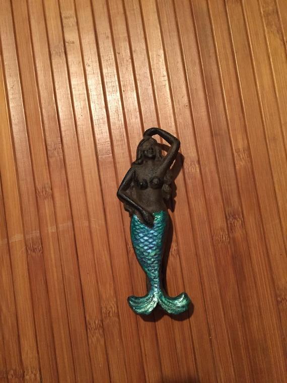 Merveilleux Vintage Looking Hand Painted Mermaid Door Knocker   Etsy