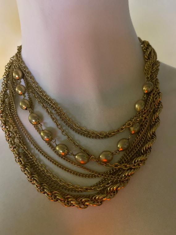 Vintage Multi Chain Necklace - image 2