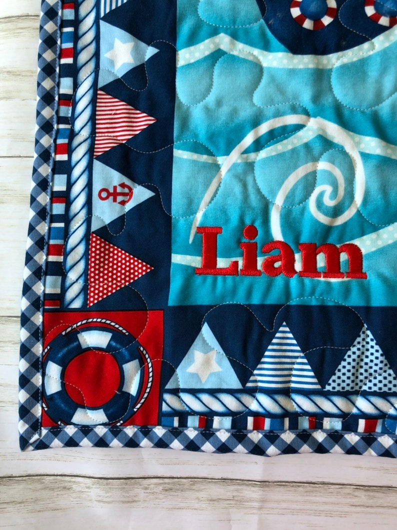 whale baby quilt toddler fun happy blue red sail boats fish nautical baby quilt baby boy nursery decor sailboat,ocean sea water sunshine
