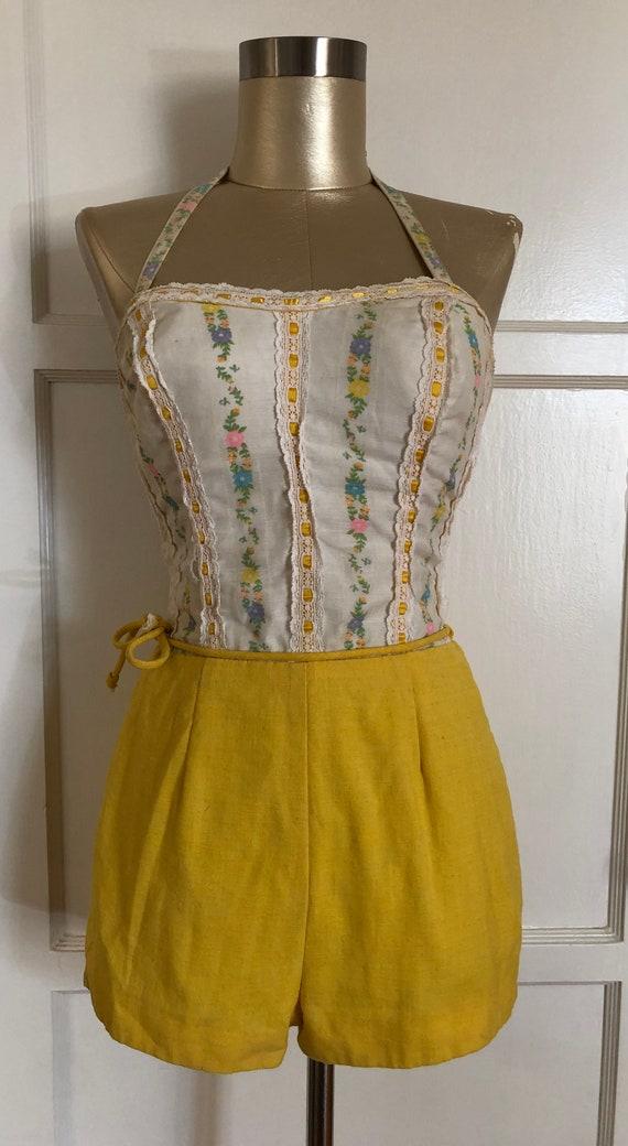 1950s jantzen cotton playsuit/ romper