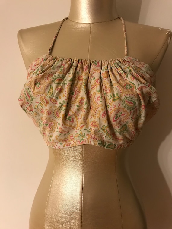 1940s-1950s cotton sun top