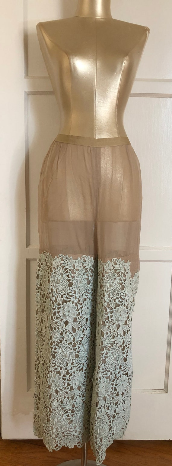 1960s nude sheer showstopper pants