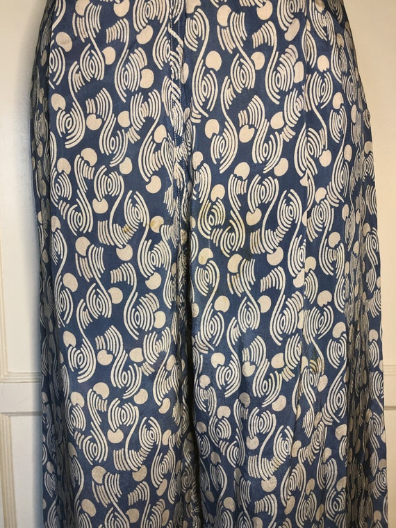 1940s Blue and White Lounge Pants - image 4