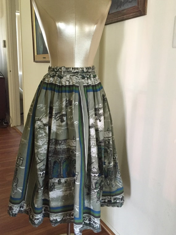 Spectacular 1950's full novelty skirt