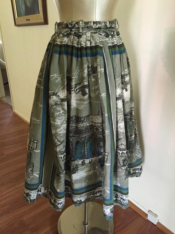 Spectacular 1950's full novelty skirt - image 2