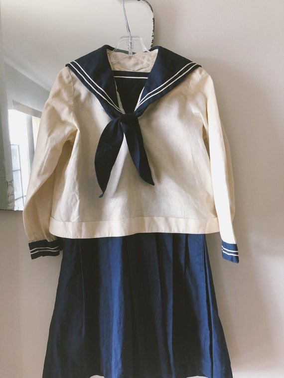 1930s early 1940s 3pc kids Sailor dress outfit