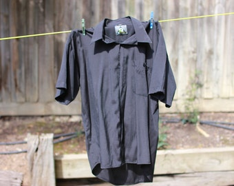 SILK short sleeve shirt black