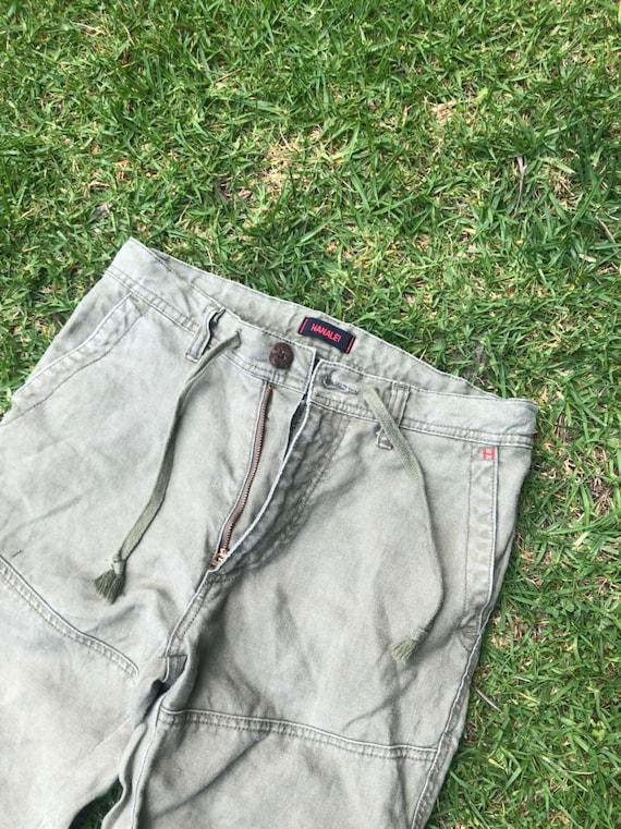 Hanalei khaki green cargo pants linen