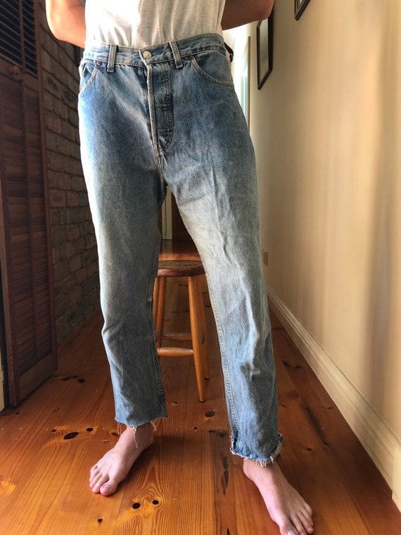 Levis worn in boyfriend jeans