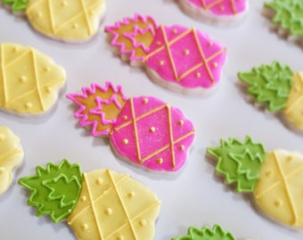 Pineapple cookies ,Pineapple party, pineapple party favor, wedding favors,pink pineapple,Pineapple cookie,pineapple party, summer party