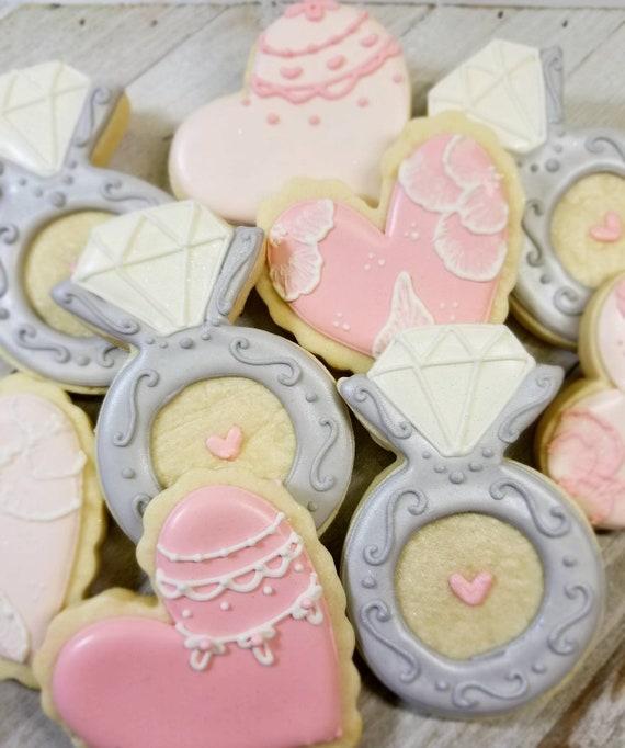 Bridal shower cookies Wedding cookies Wedding favors bridal   Etsy