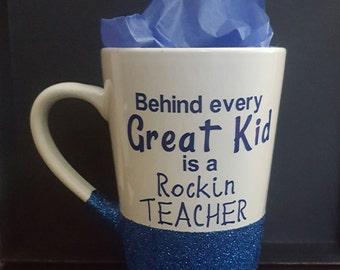 Rockin teacher mug