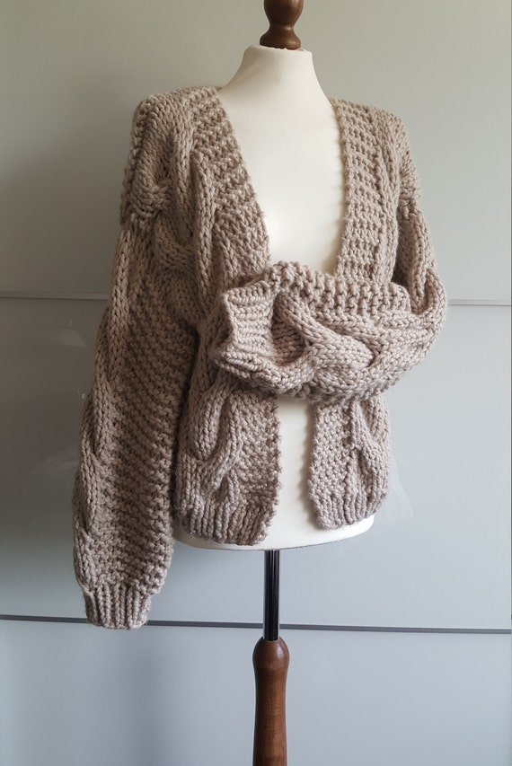 41b2c72452 Chunky Knit Cardigan Oversized Knitted Cardigan Knit Cardigan