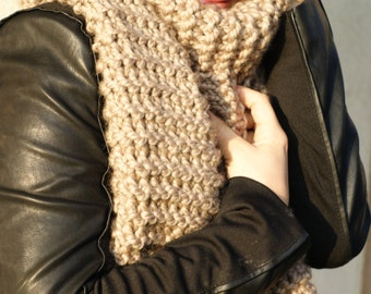 Chunky scarf, knitted scarf, wool scarf, winter scarf, oversized knitting, womans scarf, oversized scarf, chunky knit sarf